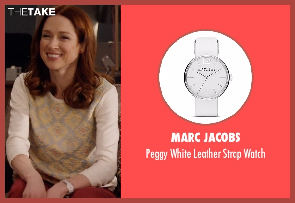 Marc Jacobs white watch from Unbreakable Kimmy Schmidt seen with Kimmy Schmidt (Ellie Kemper)