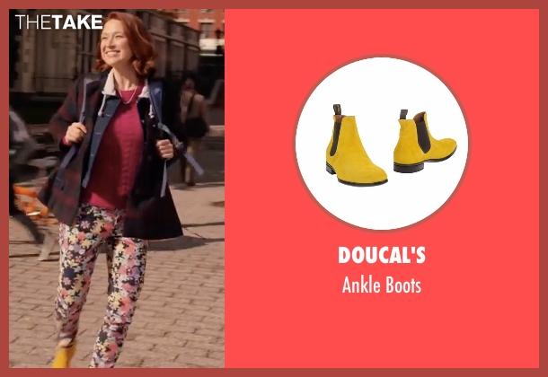 Doucal's yellow boots from Unbreakable Kimmy Schmidt seen with Kimmy Schmidt (Ellie Kemper)