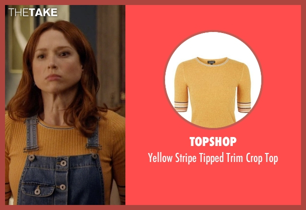Topshop yellow top from Unbreakable Kimmy Schmidt seen with Kimmy Schmidt (Ellie Kemper)