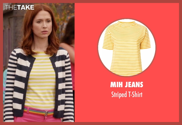 Mih Jeans yellow t-shirt from Unbreakable Kimmy Schmidt seen with Kimmy Schmidt (Ellie Kemper)