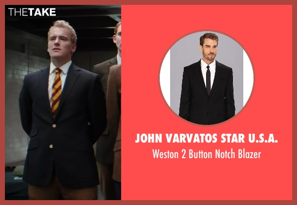 John Varvatos Star U.S.A. black blazer from Kingsman: The Secret Service seen with Nicholas Banks (Digby)