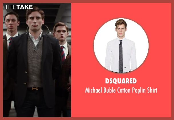 DSQUARED white shirt from Kingsman: The Secret Service seen with Edward Holcroft (Charlie)