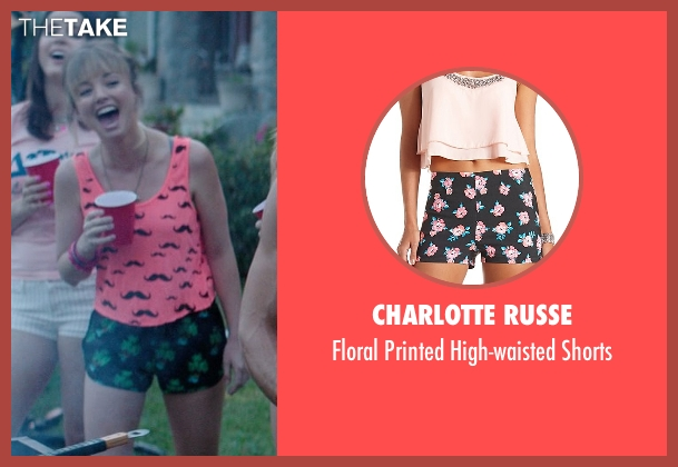 Charlotte Russe black shorts from Neighbors seen with Kira Sternbach (Brittany)