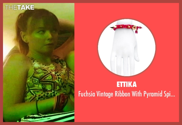 Ettika red bracelet from Neighbors seen with Kira Sternbach (Brittany)