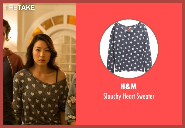 H&M gray sweater from Teen Wolf seen with Kira Yukimura (Arden Cho)