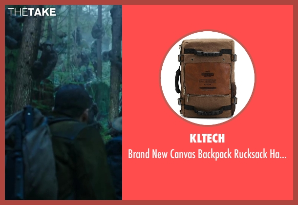 Kltech handbag from Dawn of the Planet of the Apes seen with Kirk Acevedo (Carver)