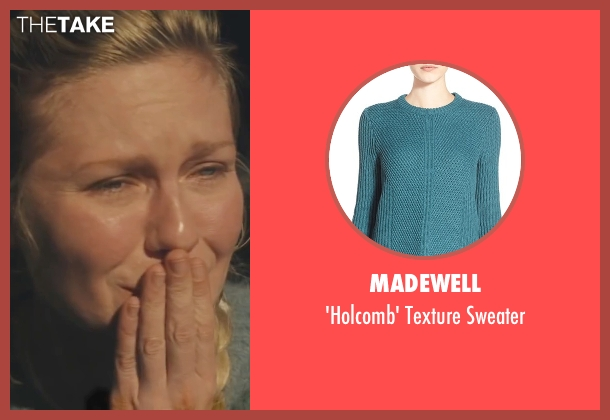 Madewell blue sweater from Midnight Special seen with Kirsten Dunst (Unknown Character)