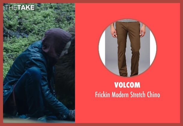 VOLCOM brown chino from Dawn of the Planet of the Apes seen with Kodi Smit-McPhee (Alexander)