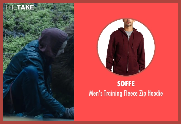 SOFFE red hoodie from Dawn of the Planet of the Apes seen with Kodi Smit-McPhee (Alexander)