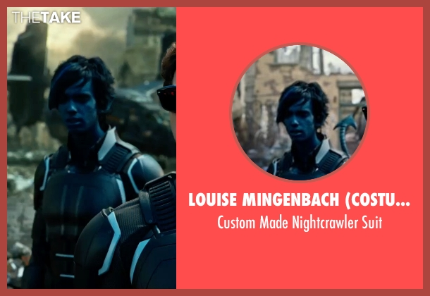 Louise Mingenbach (Costume Designer) suit from X-Men: Apocalypse seen with Kodi Smit-McPhee (Kurt Wagner / Nightcrawler)