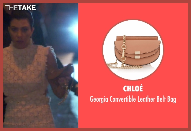 Chloé beige bag from Keeping Up With The Kardashians seen with Kourtney Kardashian