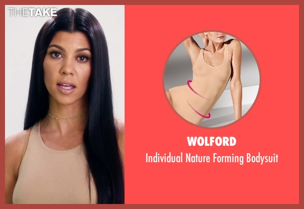 Wolford beige bodysuit from Keeping Up With The Kardashians seen with Kourtney Kardashian
