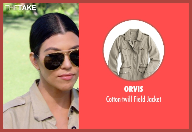 Orvis beige jacket from Keeping Up With The Kardashians seen with Kourtney Kardashian