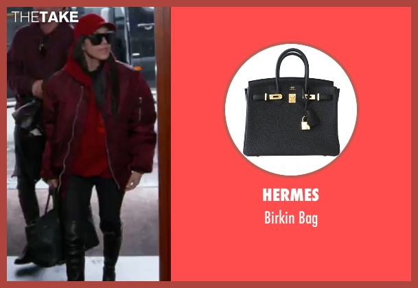 Hermes black bag from Keeping Up With The Kardashians seen with Kourtney Kardashian