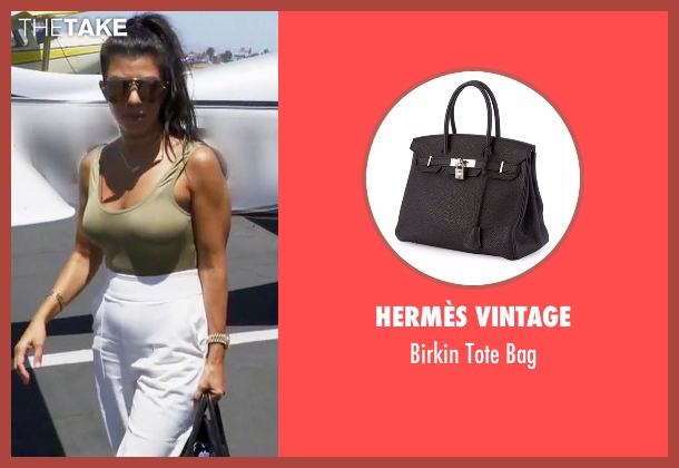 Hermès Vintage black bag from Keeping Up With The Kardashians seen with Kourtney Kardashian