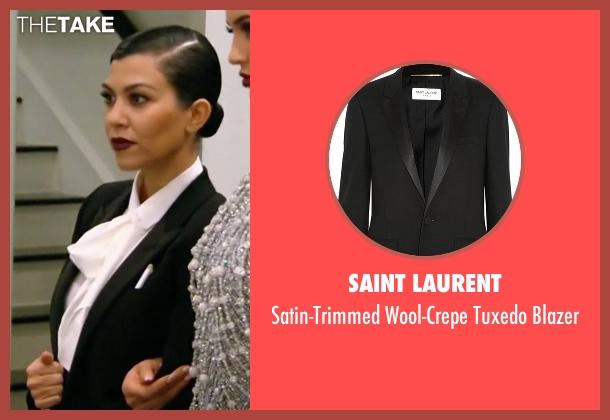 Saint Laurent black blazer from Keeping Up With The Kardashians seen with Kourtney Kardashian