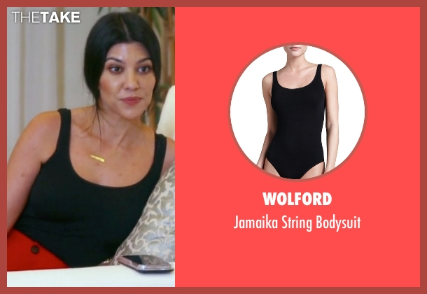 Wolford black bodysuit from Keeping Up With The Kardashians seen with Kourtney Kardashian