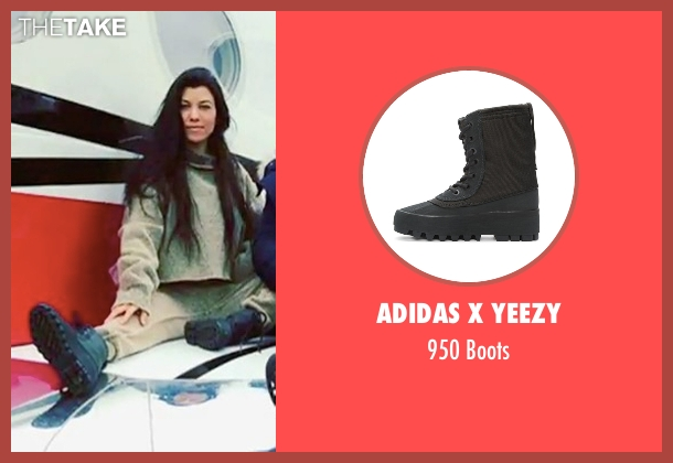 Adidas x Yeezy black boots from Keeping Up With The Kardashians seen with Kourtney Kardashian