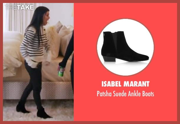 Isabel Marant black boots from Keeping Up With The Kardashians seen with Kourtney Kardashian