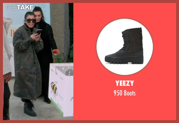Yeezy black boots from Keeping Up With The Kardashians seen with Kourtney Kardashian