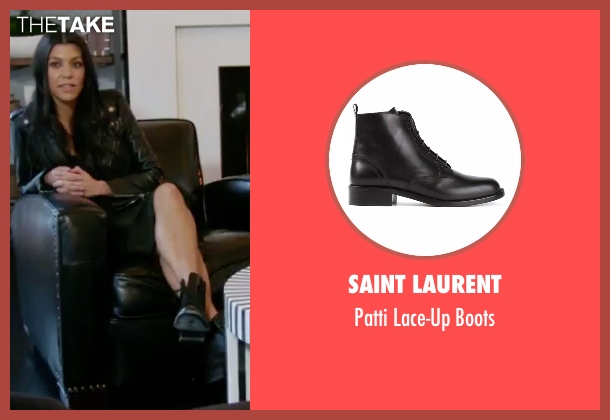 Saint Laurent black boots from Keeping Up With The Kardashians seen with Kourtney Kardashian