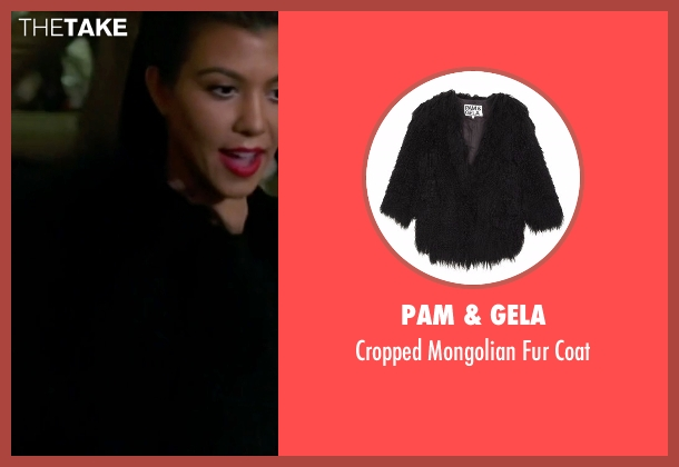 Pam & Gela black coat from Keeping Up With The Kardashians seen with Kourtney Kardashian