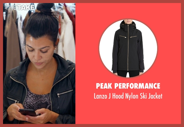 Peak Performance black jacket from Keeping Up With The Kardashians seen with Kourtney Kardashian