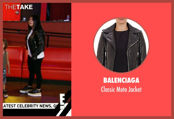 Balenciaga black jacket from Keeping Up With The Kardashians seen with Kourtney Kardashian