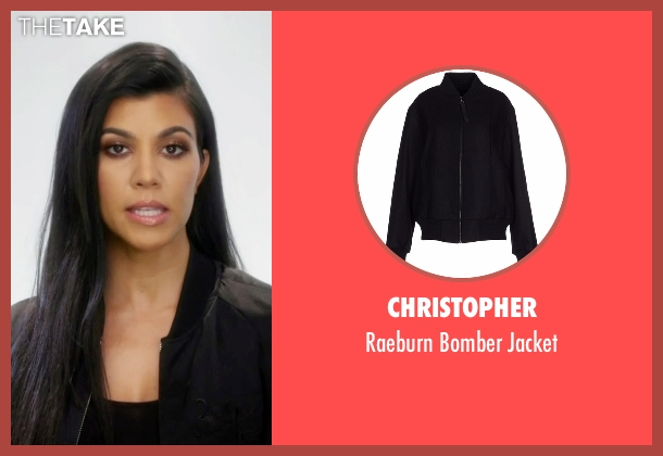 Christopher black jacket from Keeping Up With The Kardashians seen with Kourtney Kardashian