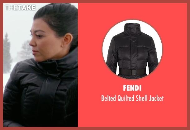 Fendi black jacket from Keeping Up With The Kardashians seen with Kourtney Kardashian