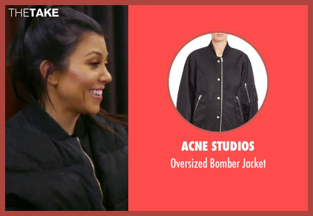 Acne Studios black jacket from Keeping Up With The Kardashians seen with Kourtney Kardashian