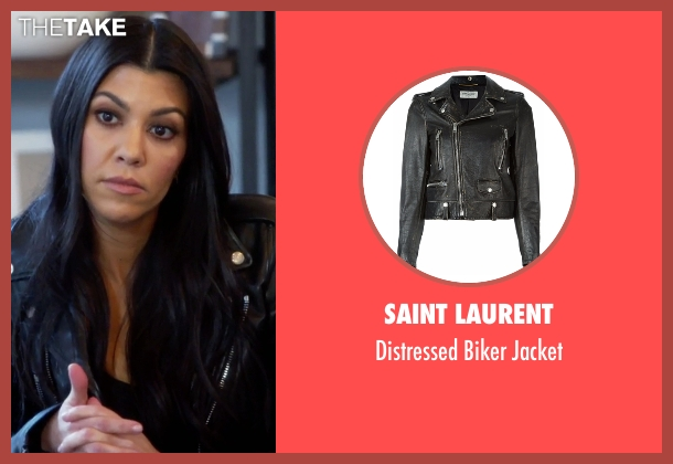Saint Laurent black jacket from Keeping Up With The Kardashians seen with Kourtney Kardashian