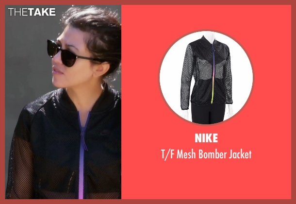 Nike black jacket from Keeping Up With The Kardashians seen with Kourtney Kardashian