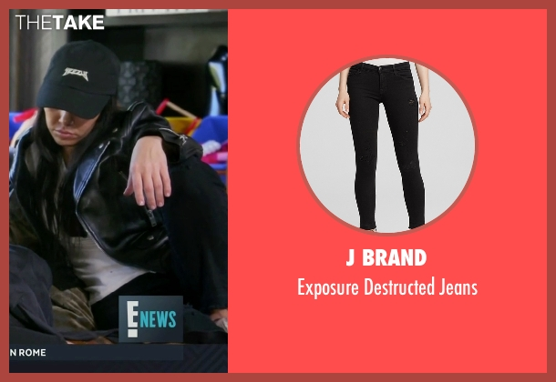 J Brand black jeans from Keeping Up With The Kardashians seen with Kourtney Kardashian
