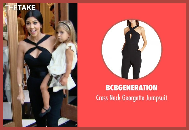 BCBGeneration black jumpsuit from Keeping Up With The Kardashians seen with Kourtney Kardashian