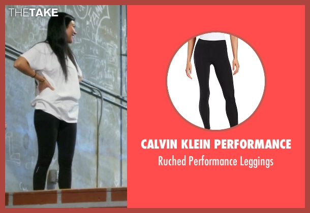 Calvin Klein Performance black leggings from Keeping Up With The Kardashians seen with Kourtney Kardashian