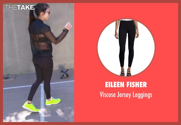 Eileen Fisher black leggings from Keeping Up With The Kardashians seen with Kourtney Kardashian