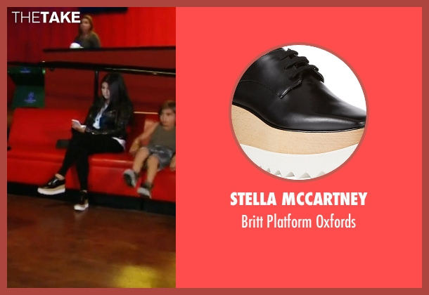 Stella Mccartney black oxfords from Keeping Up With The Kardashians seen with Kourtney Kardashian