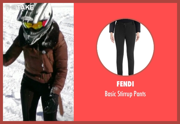 Fendi black pants from Keeping Up With The Kardashians seen with Kourtney Kardashian