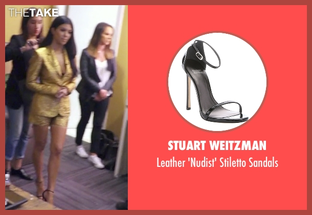 Stuart Weitzman black sandals from Keeping Up With The Kardashians seen with Kourtney Kardashian