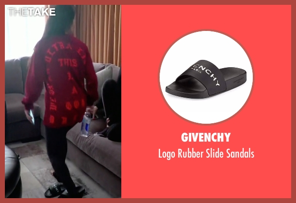 Givenchy black sandals from Keeping Up With The Kardashians seen with Kourtney Kardashian