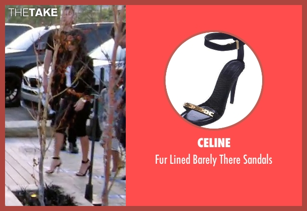 Celine black sandals from Keeping Up With The Kardashians seen with Kourtney Kardashian