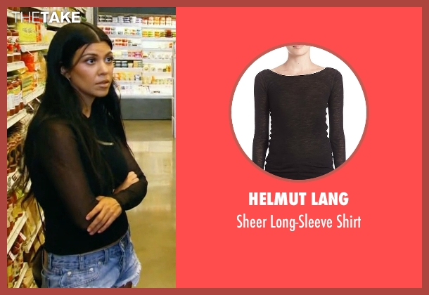 Helmut Lang black shirt from Keeping Up With The Kardashians seen with Kourtney Kardashian