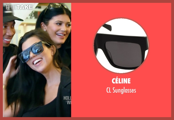 Céline black sunglasses from Keeping Up With The Kardashians seen with Kourtney Kardashian