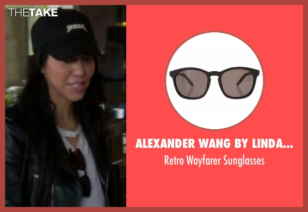 Alexander Wang By Linda Farrow black sunglasses from Keeping Up With The Kardashians seen with Kourtney Kardashian