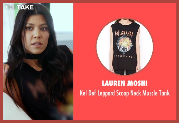Lauren Moshi black tank from Keeping Up With The Kardashians seen with Kourtney Kardashian