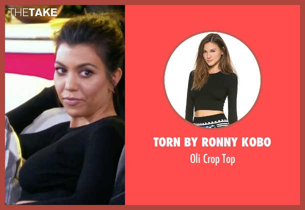 Torn By Ronny Kobo black top from Keeping Up With The Kardashians seen with Kourtney Kardashian