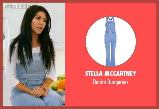 Stella Mccartney blue dungarees from Keeping Up With The Kardashians seen with Kourtney Kardashian