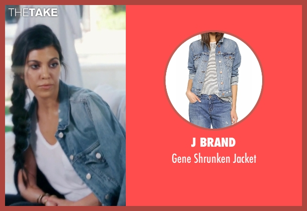 J Brand blue jacket from Keeping Up With The Kardashians seen with Kourtney Kardashian