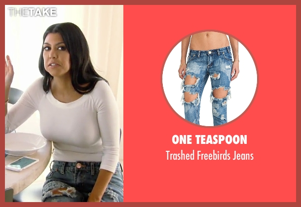 One Teaspoon blue jeans from Keeping Up With The Kardashians seen with Kourtney Kardashian
